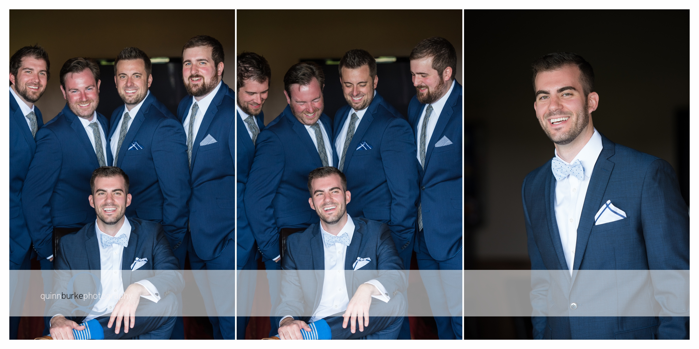 groom and groomsmen portrait