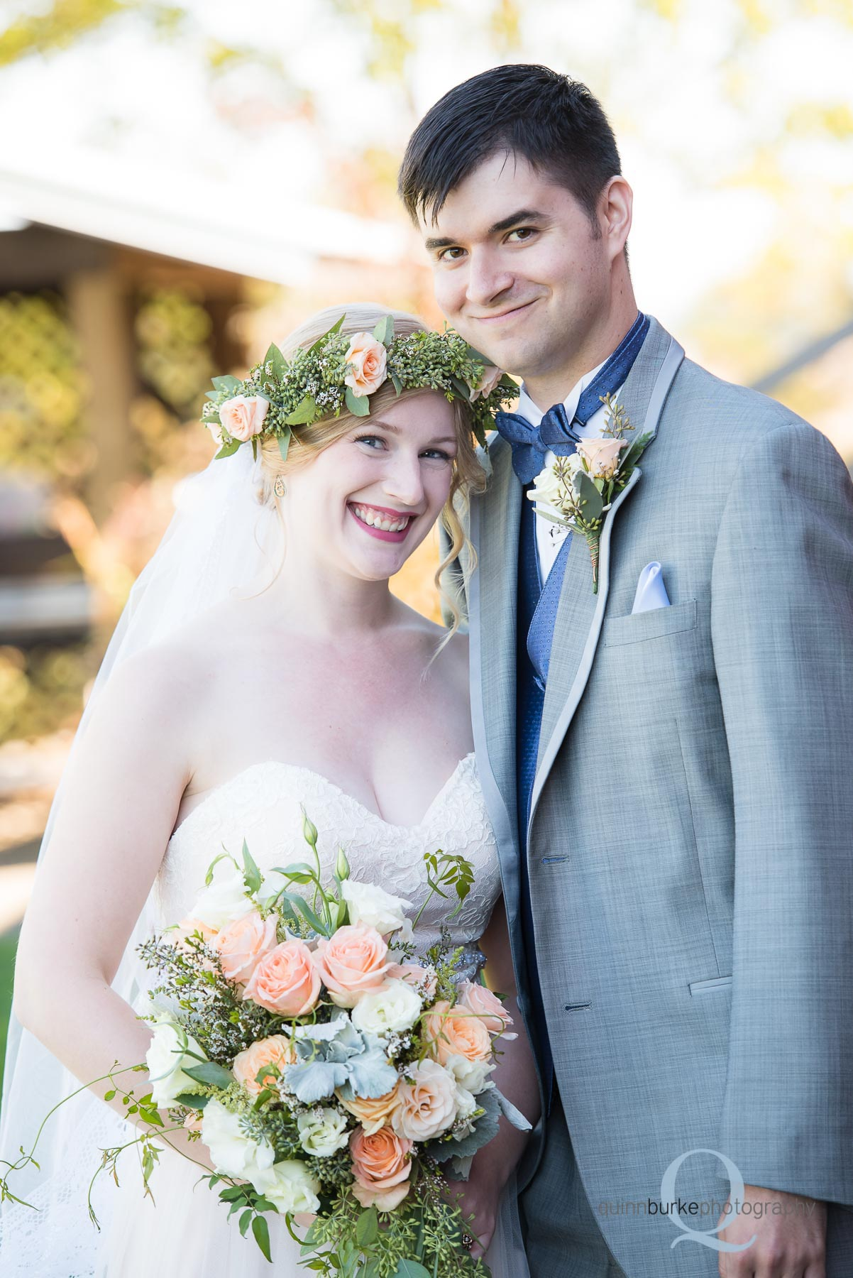 bride and groom before wedding at Perryhill Farm