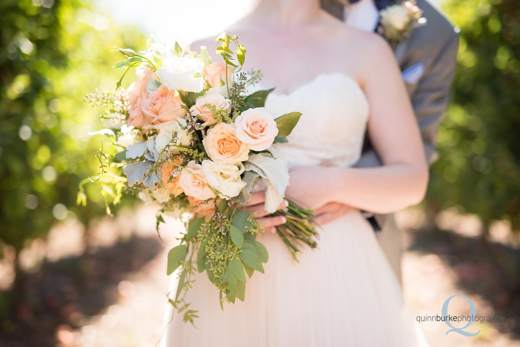 bride bouquet roses wedding Perryhill Farm