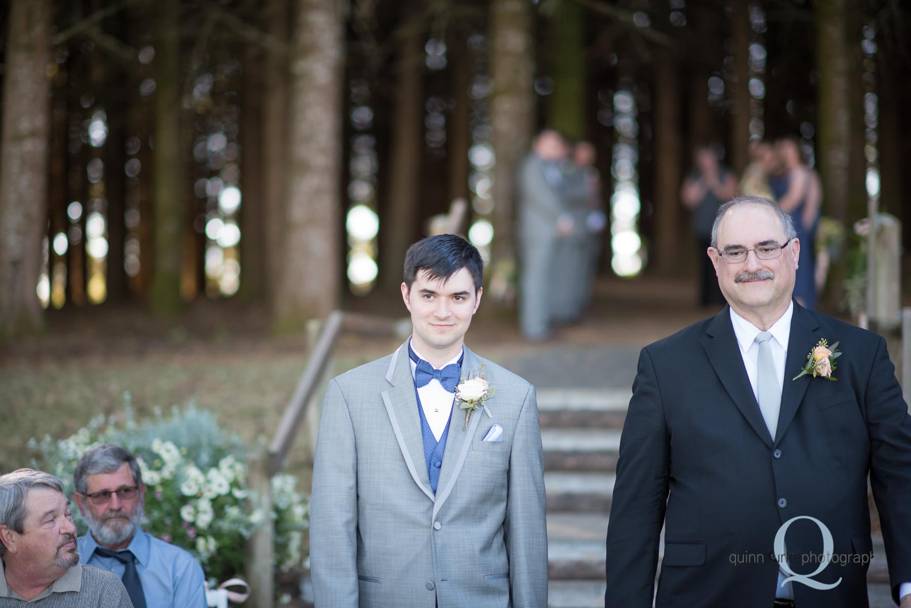 groom and dad at Perryhill Farm wedding