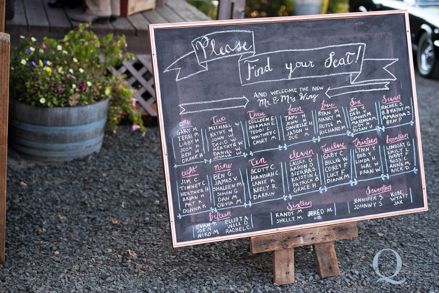 chalkboard sign at Perryhill Farm