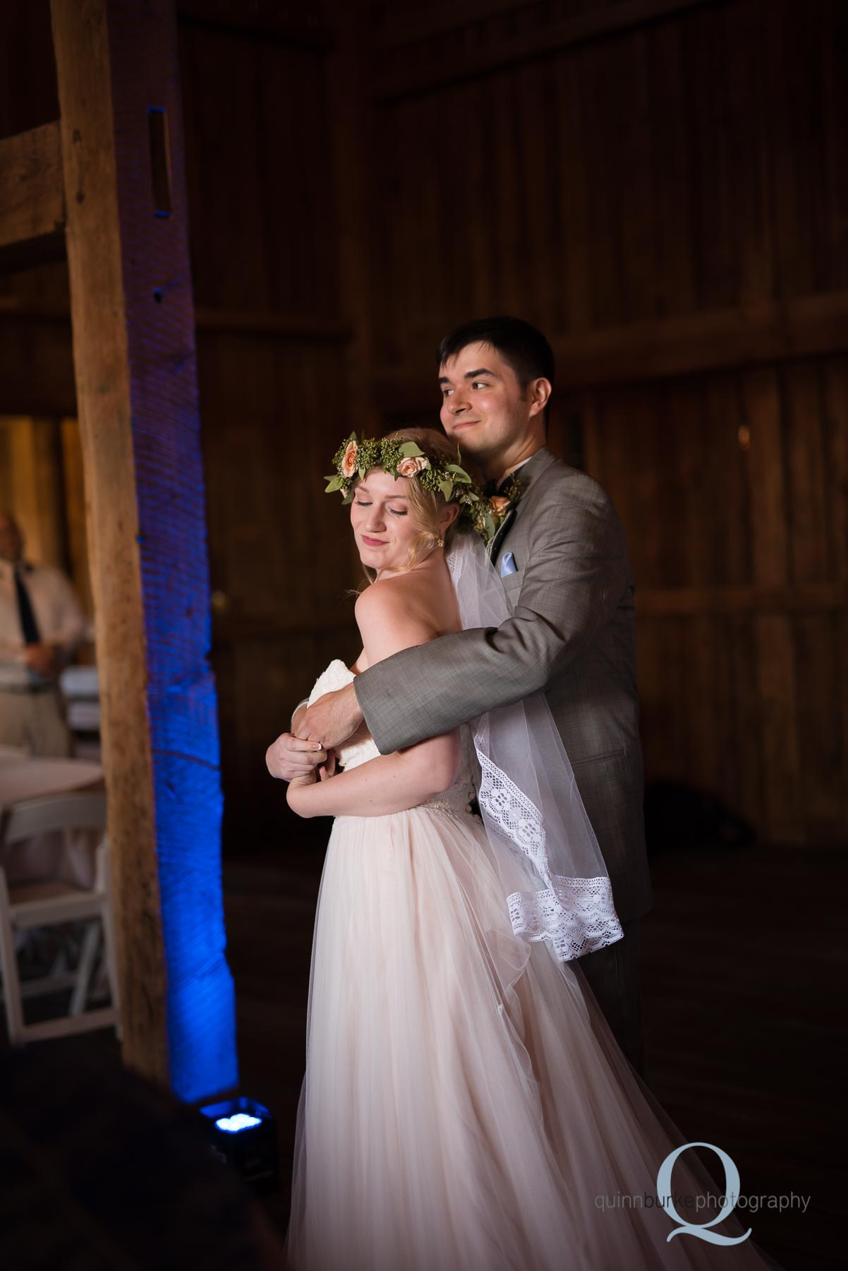bride and groom first dance Perryhill Farm
