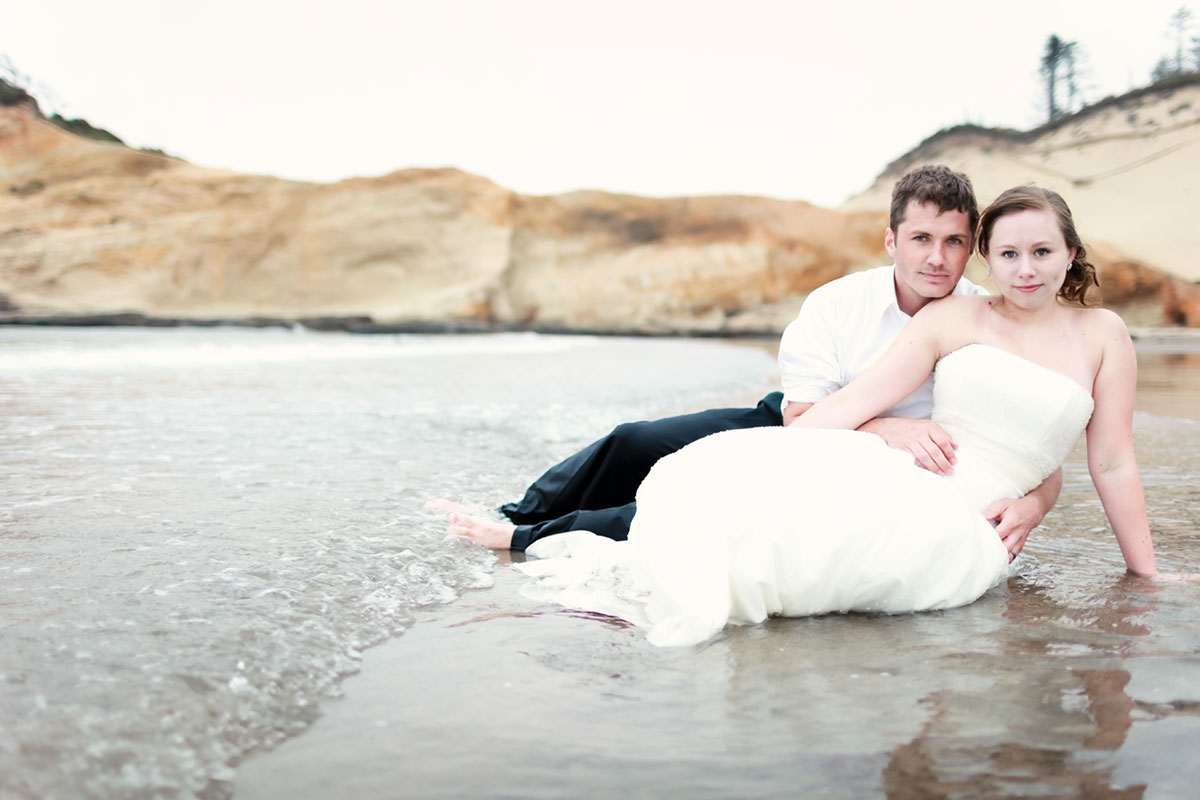 """Our one year anniversary """"trash the dress"""" photo shoot"""