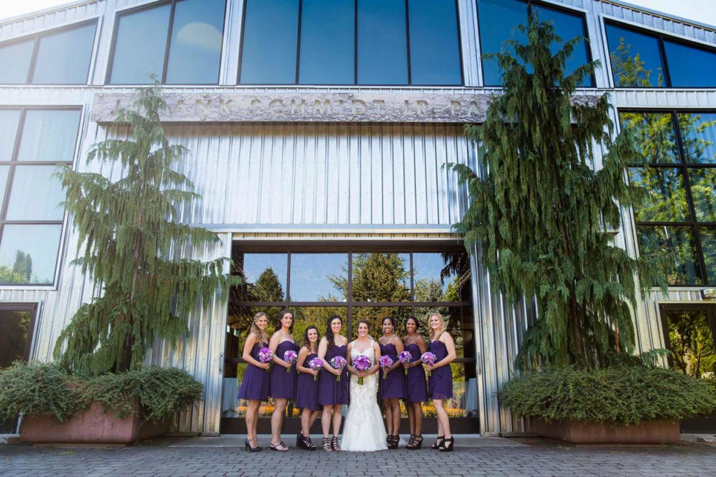 bride and bridesmaids oregon gardens wedding silverton salem oregon