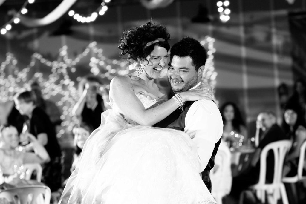 bride groom first dance carrying bride black white green villa barn wedding salem oregon