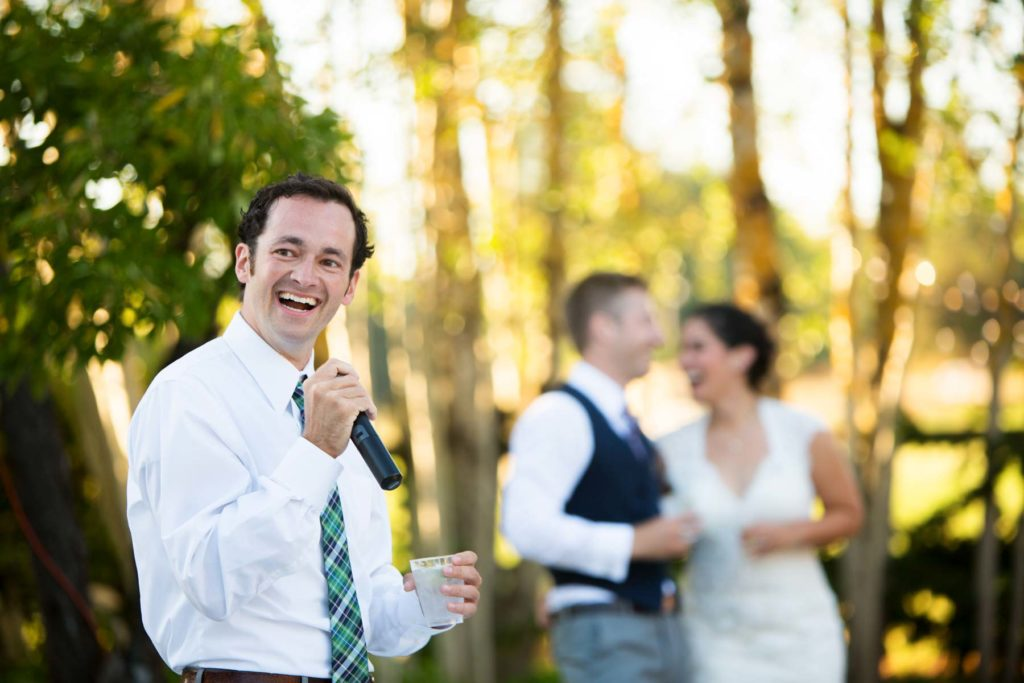 wedding reception toast speech outdoors salem oregon
