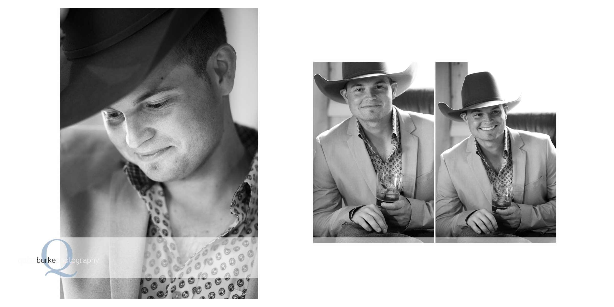 Groom Tipping Cowboy Hat Portrait