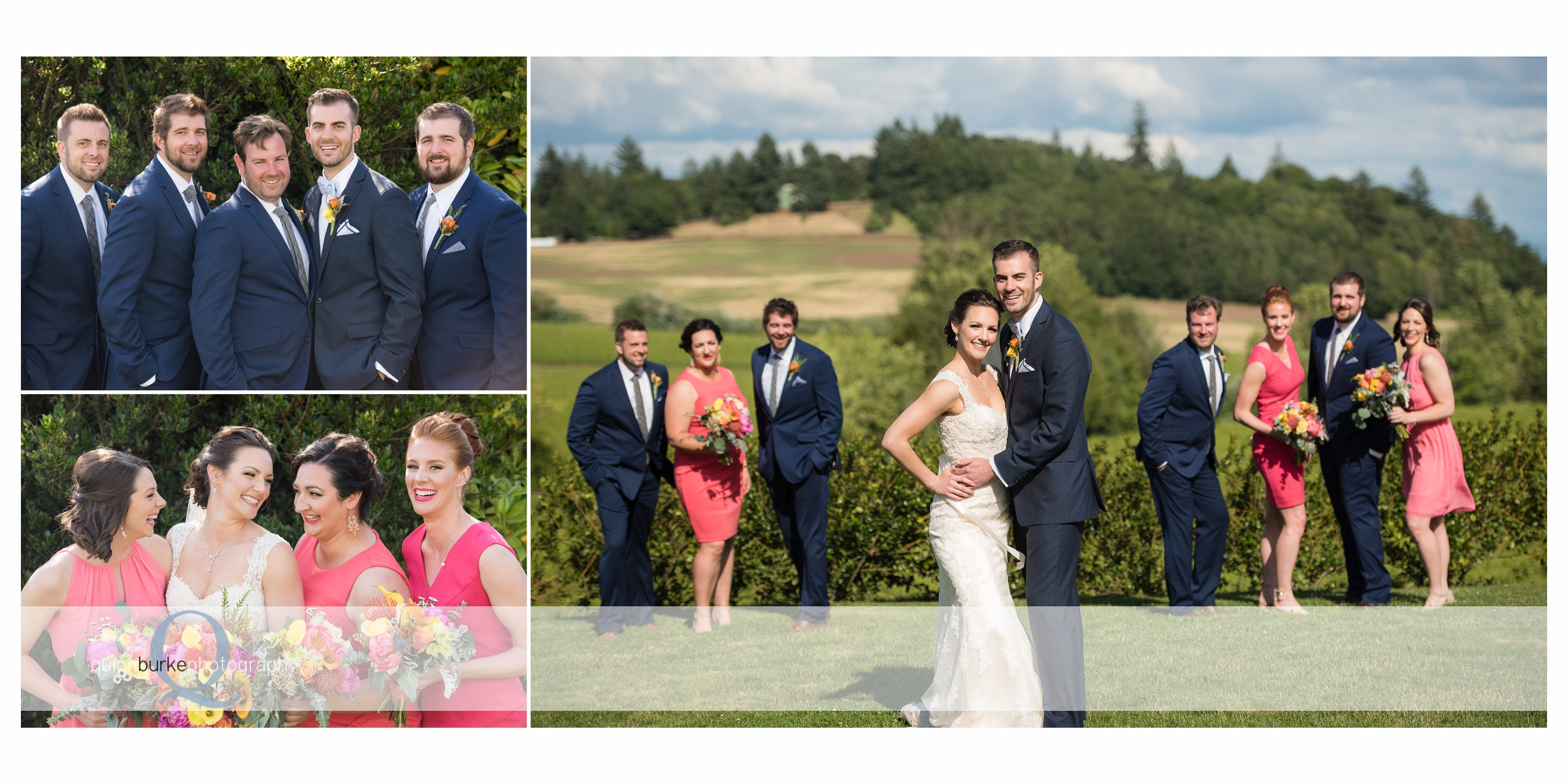 bridal party at zenith vineyard