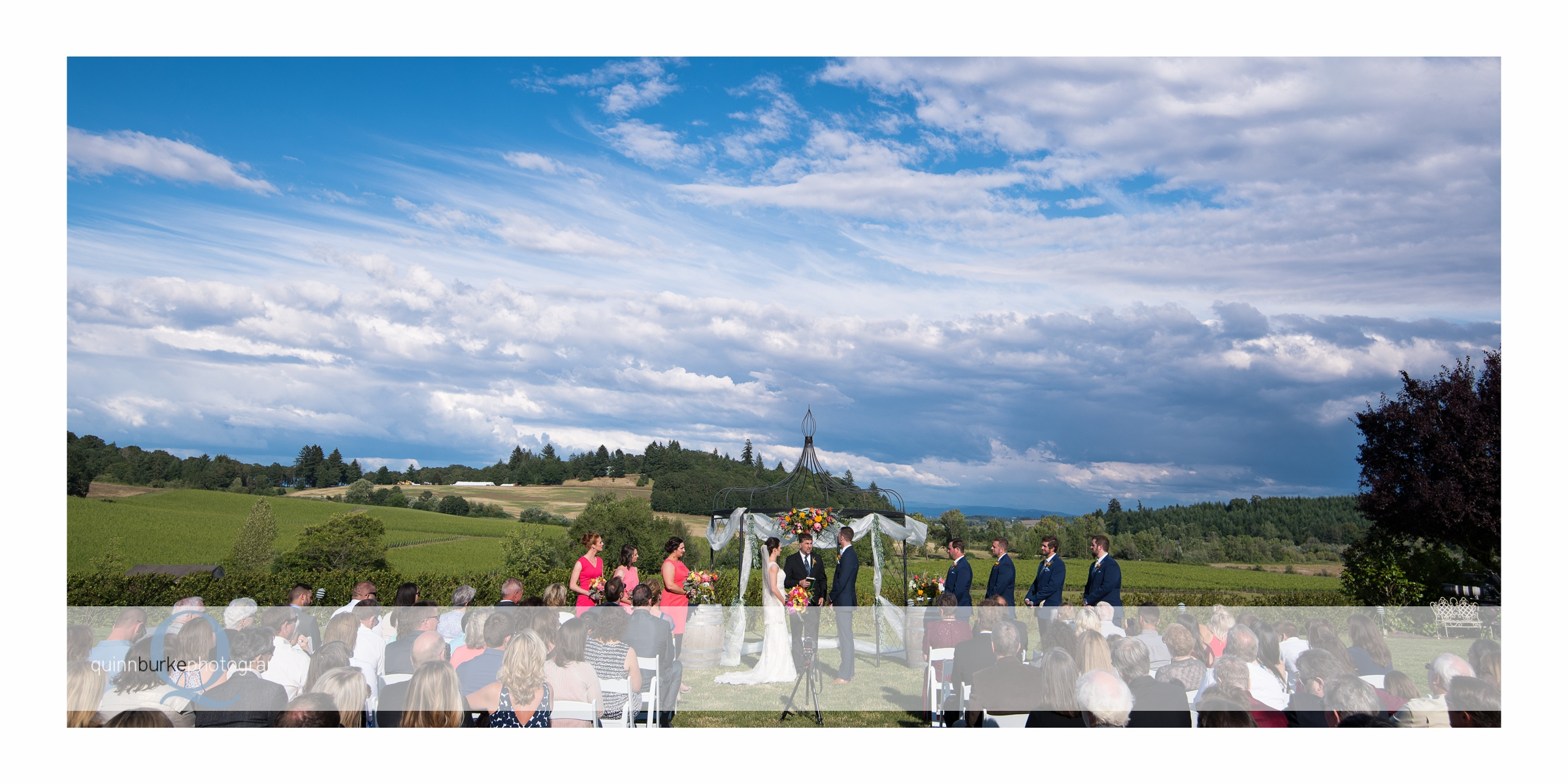 outdoor ceremony at zenith vineyard