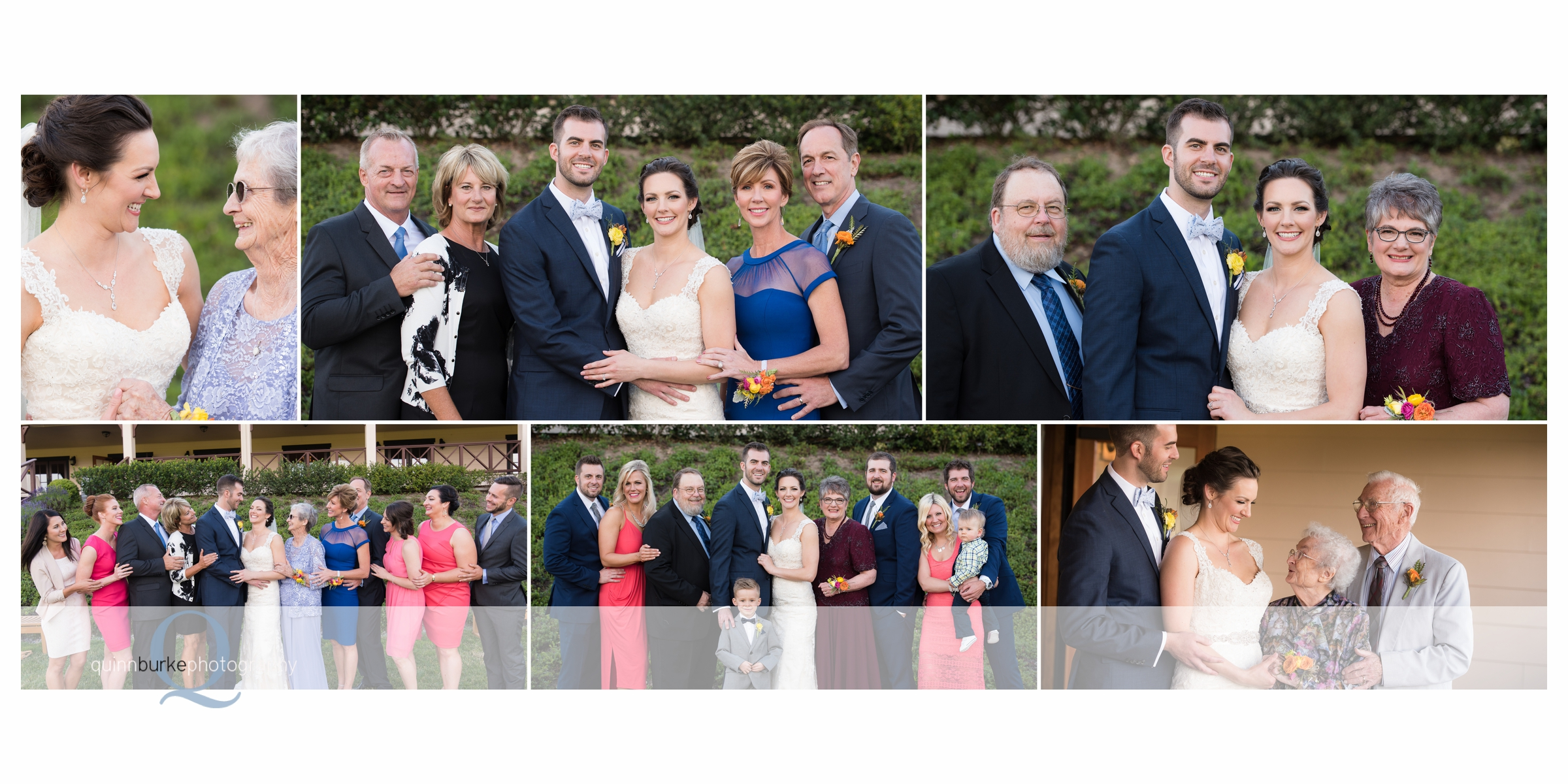family wedding portraits at zenith