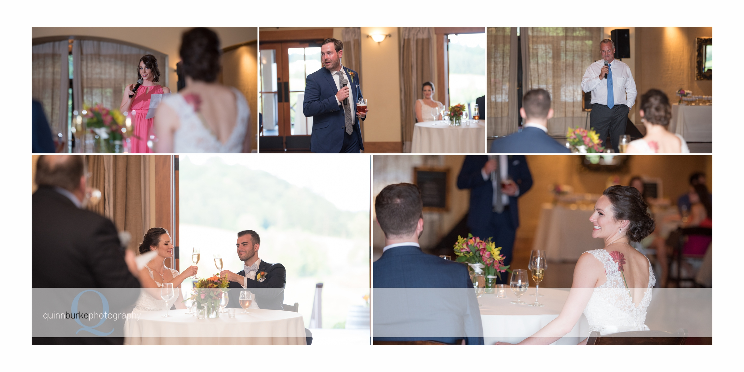 reception toasts at zenith wedding