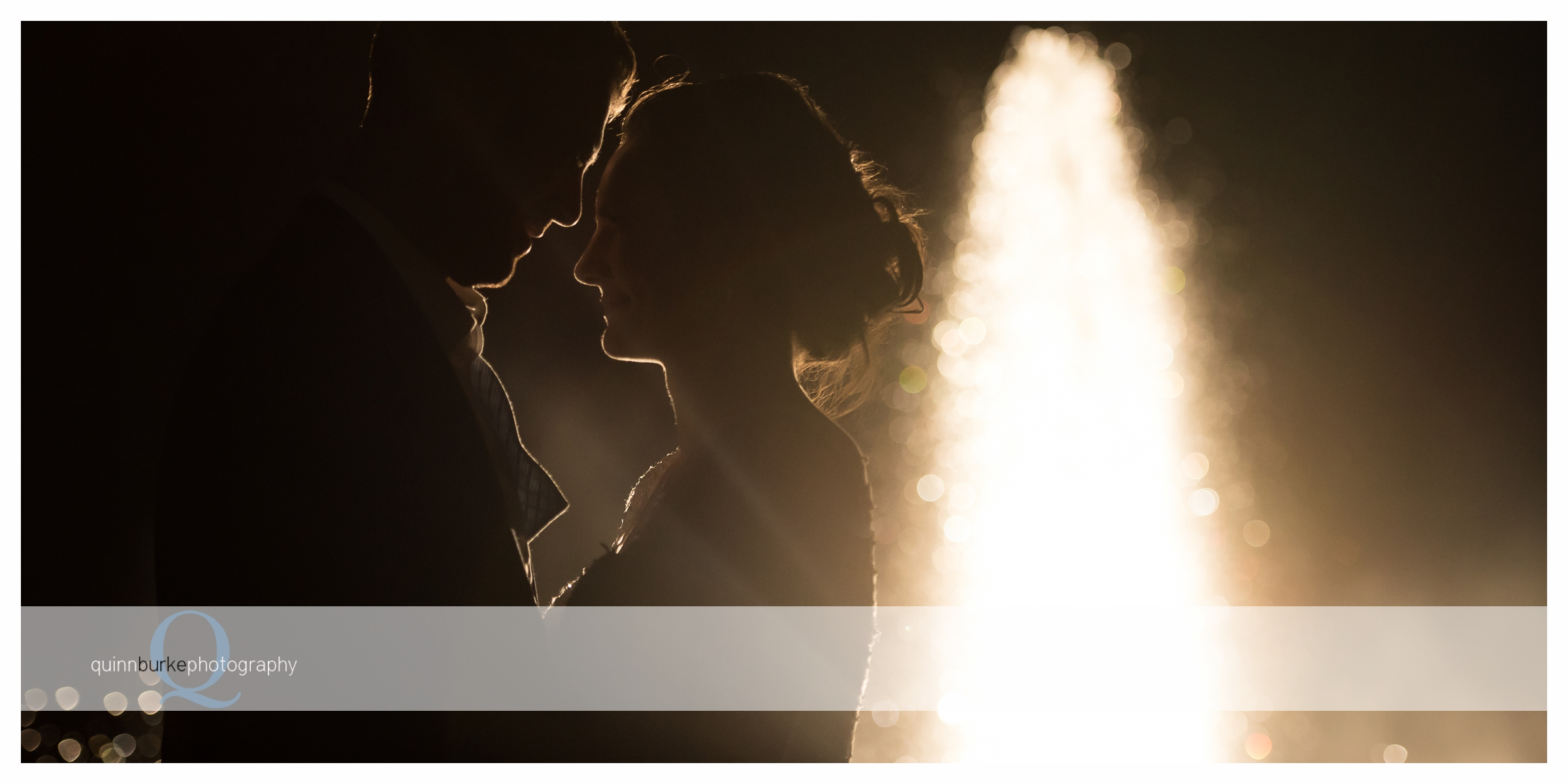 bride and groom silhouette zenith fountain