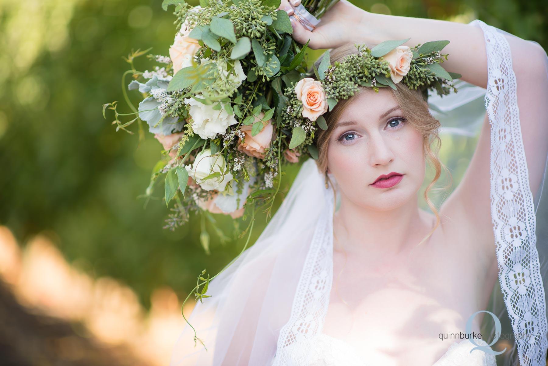 Perryhill Farm wedding boho style bride oregon
