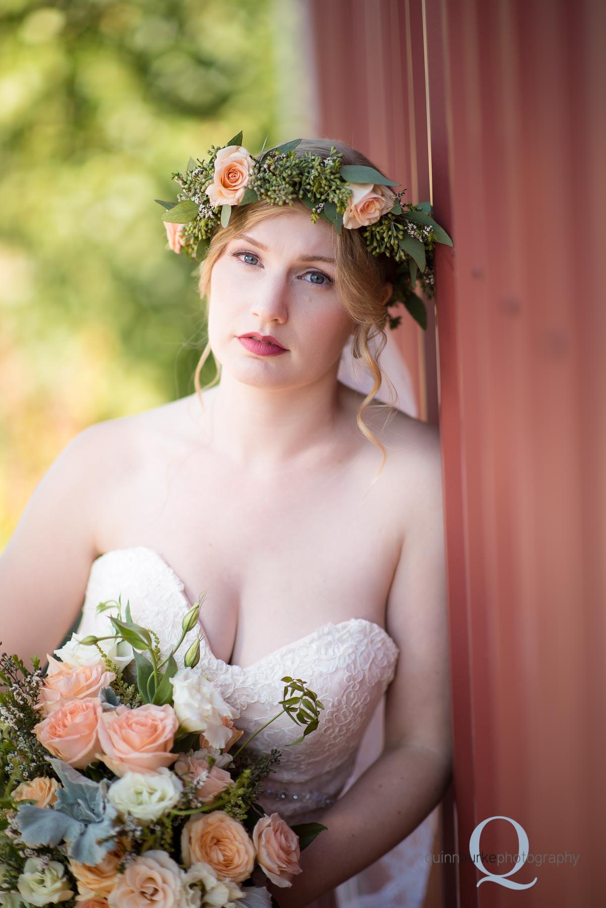 bride barn wedding Perryhill Farm oregon