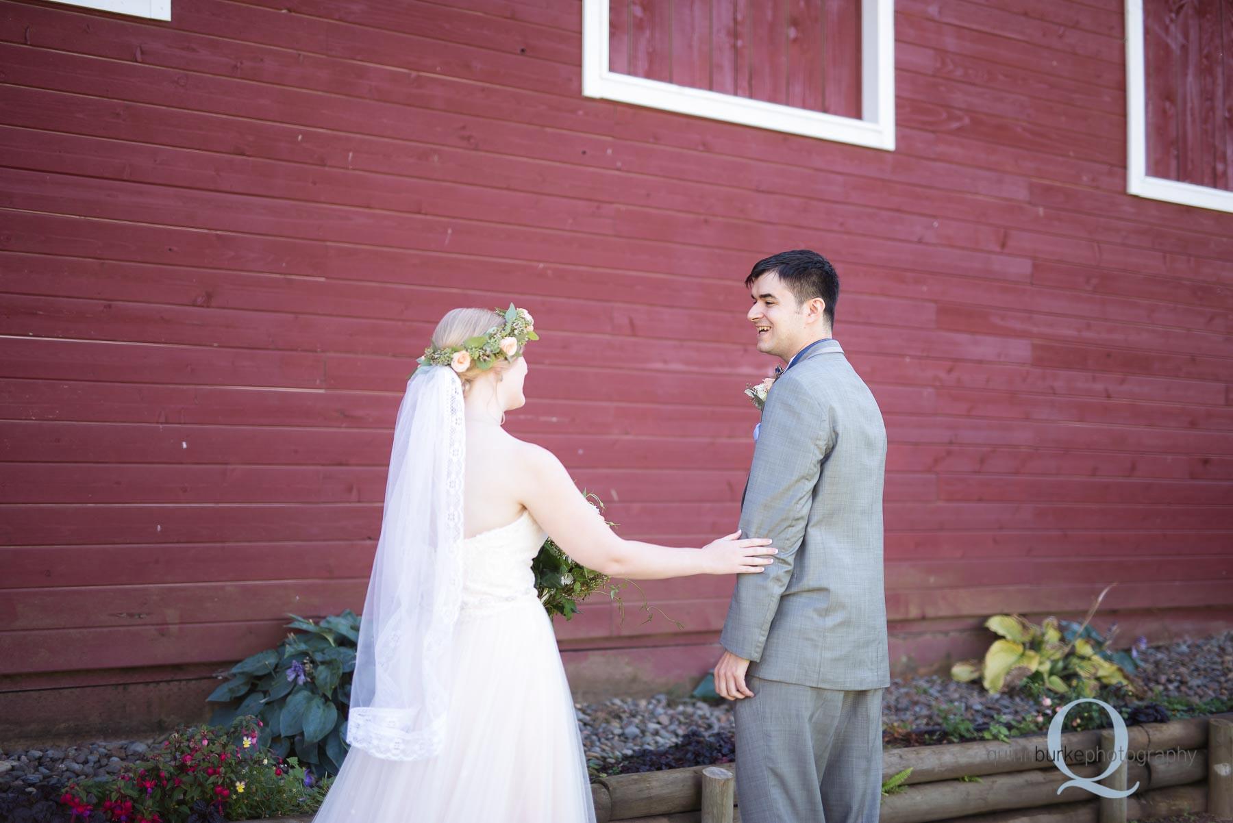 first look at wedding Perryhill Farm