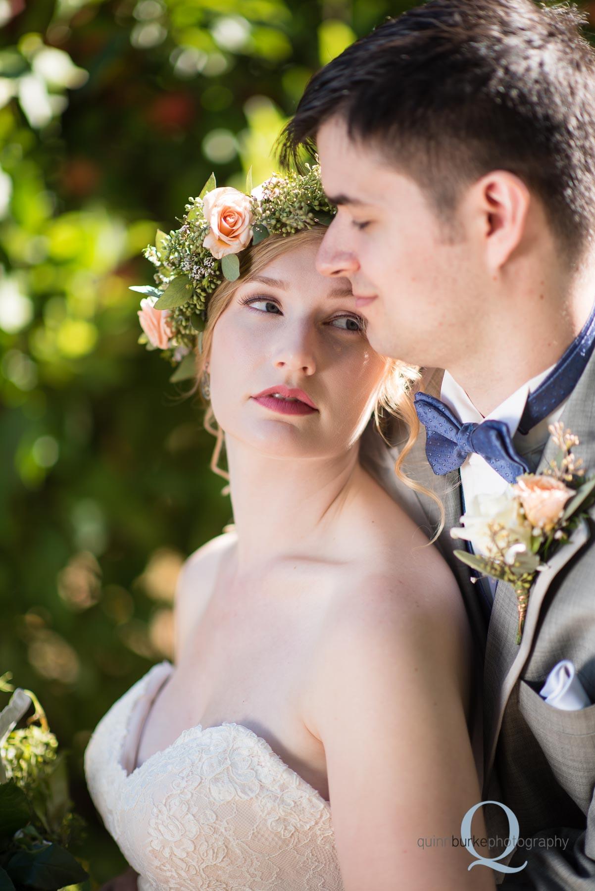 bride and groom orchard wedding Perryhill Farm oregon