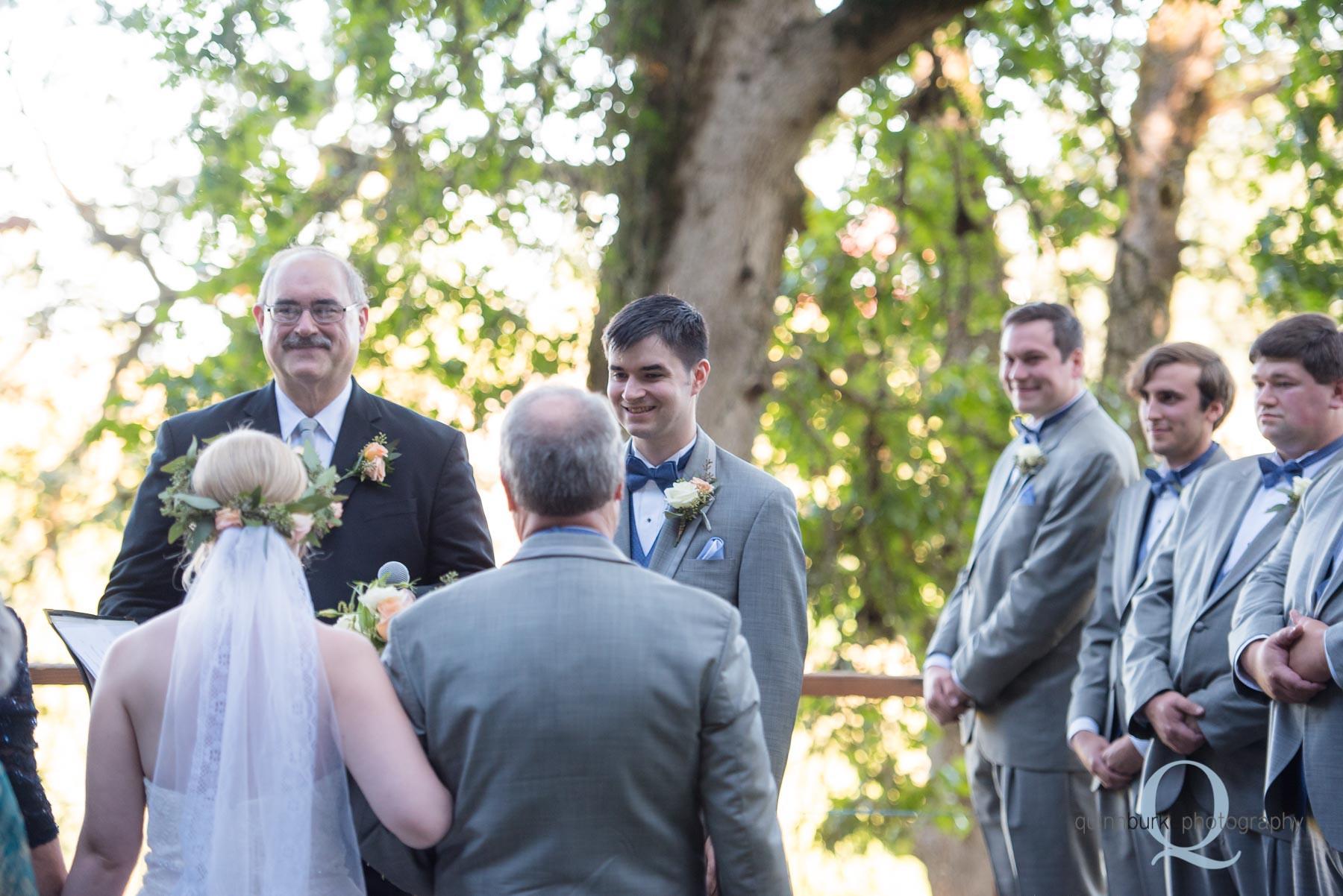 Perryhill Farm wedding ceremony
