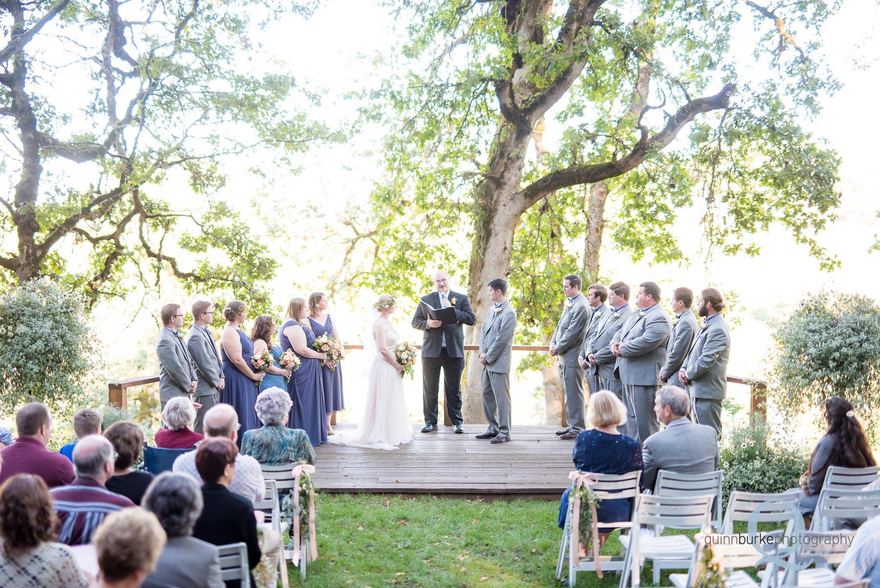 Perryhill Farm oregon wedding ceremony