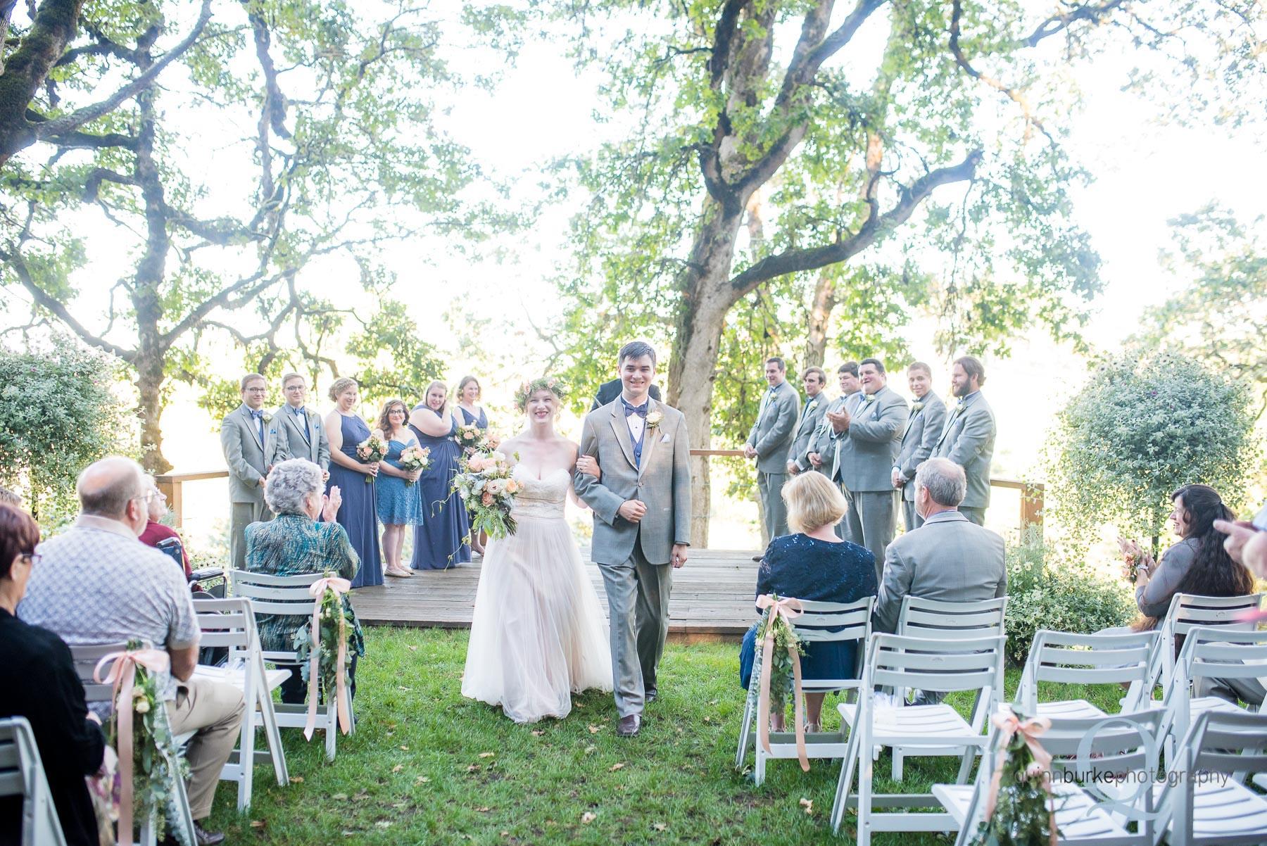 wedding ceremony at Perryhill Farm oregon