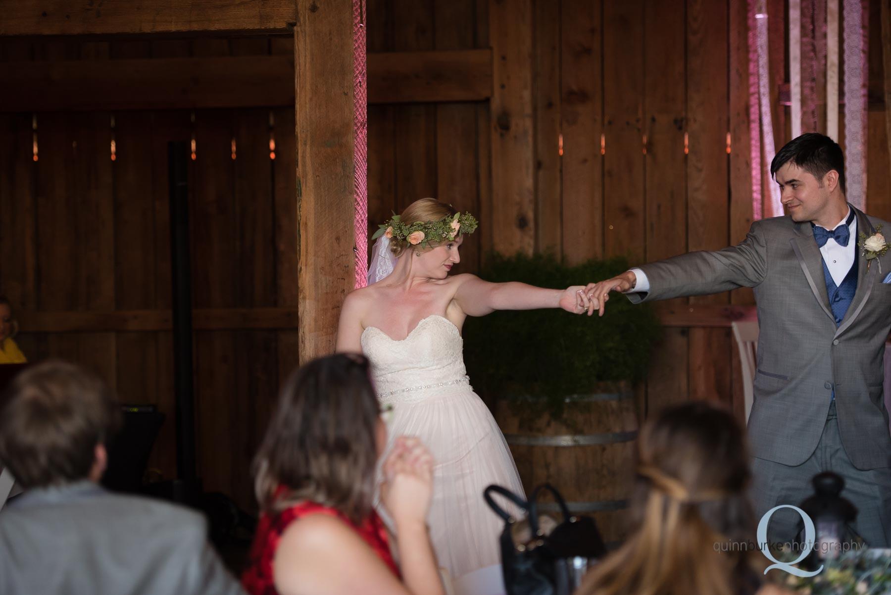 first dance Perryhill Farm barn wedding