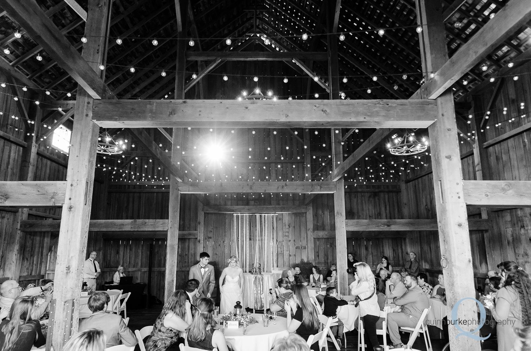 Perryhill Farm barn wedding reception in Oregon