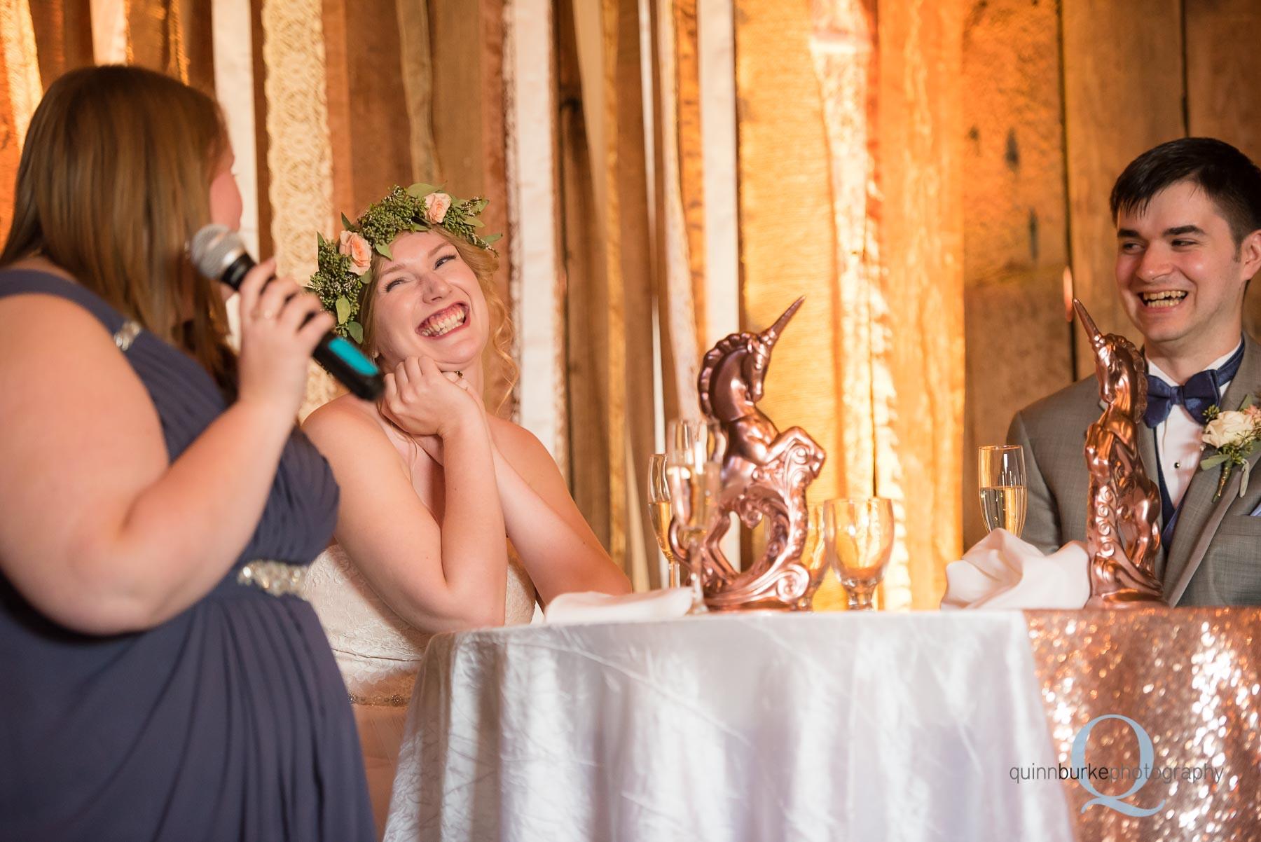 toasts at Perryhill Farm barn wedding
