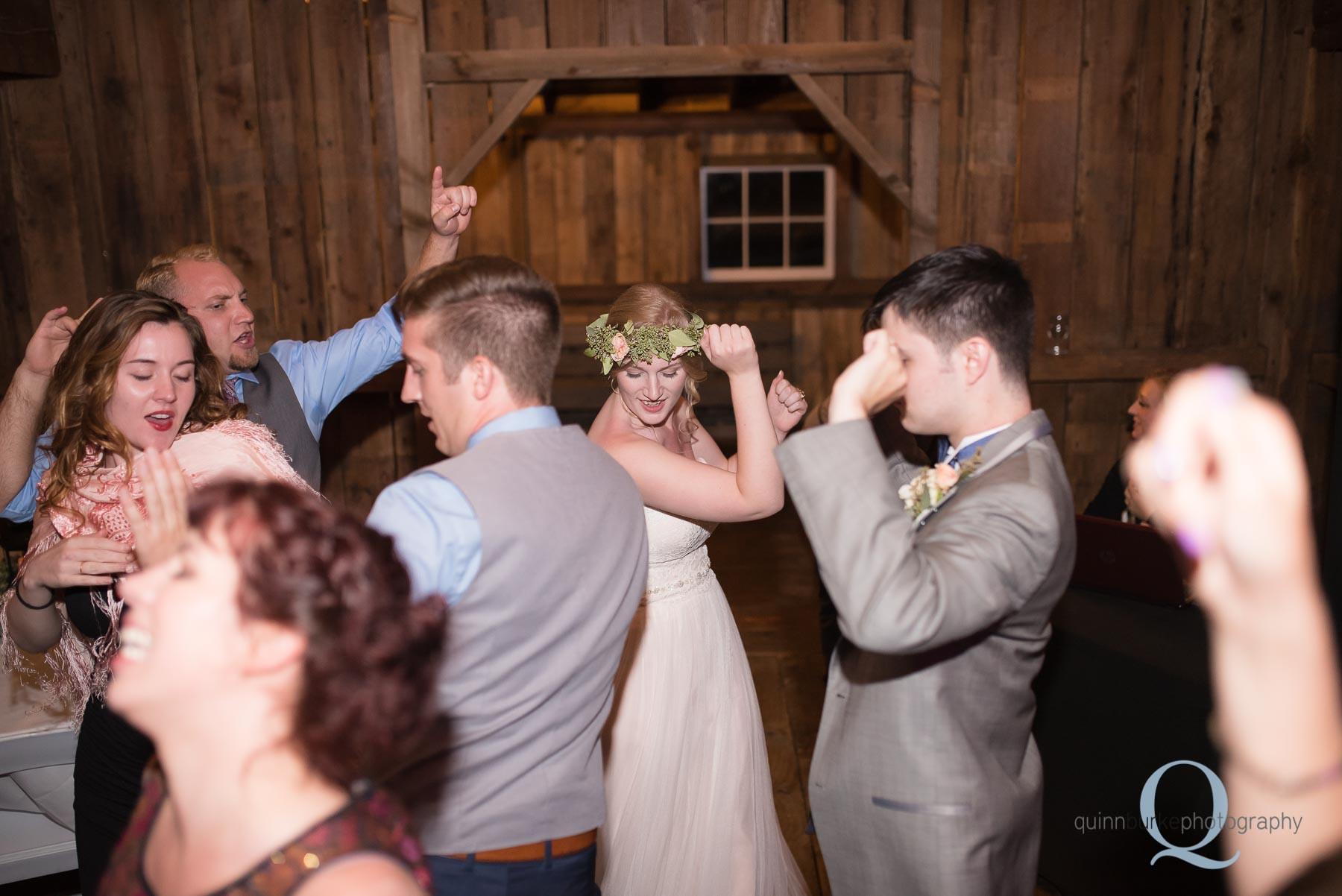 reception dancing at Perryhill Farm wedding