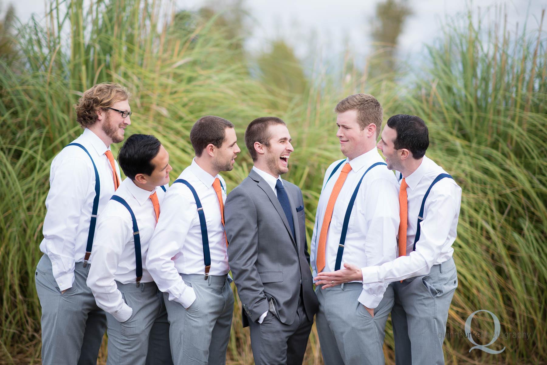 groom and groomsmen in salem oregon Green Villa Barn wedding