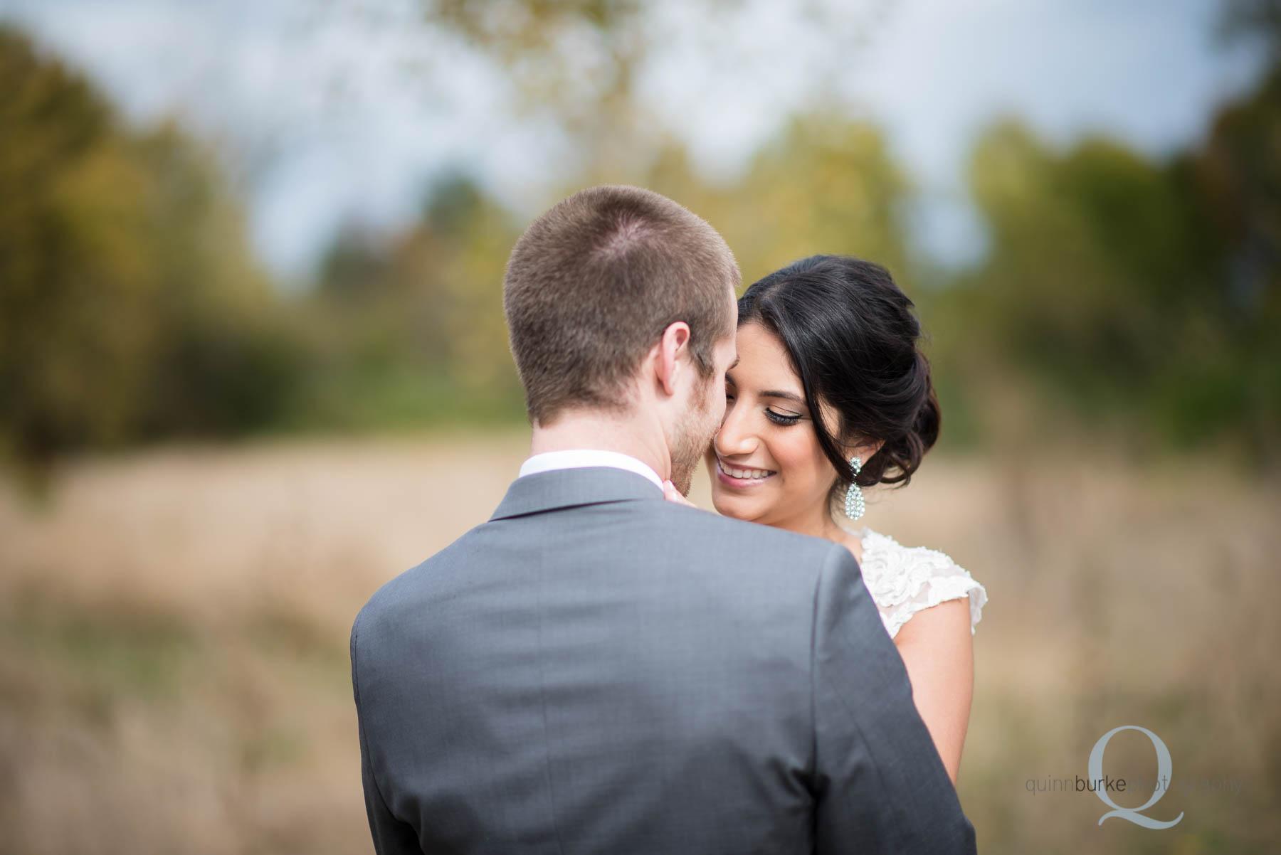 bride and groom before wedding at Green Villa Barn
