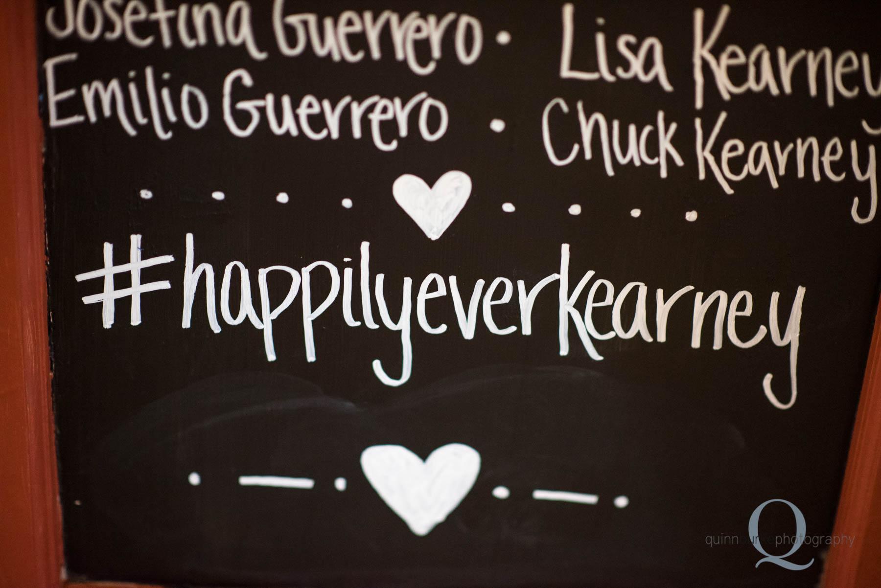 instagram hashtag wedding chalkboard sign