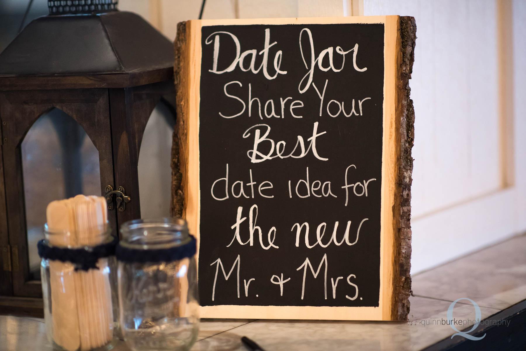 date idea share wedding chalkboard sign