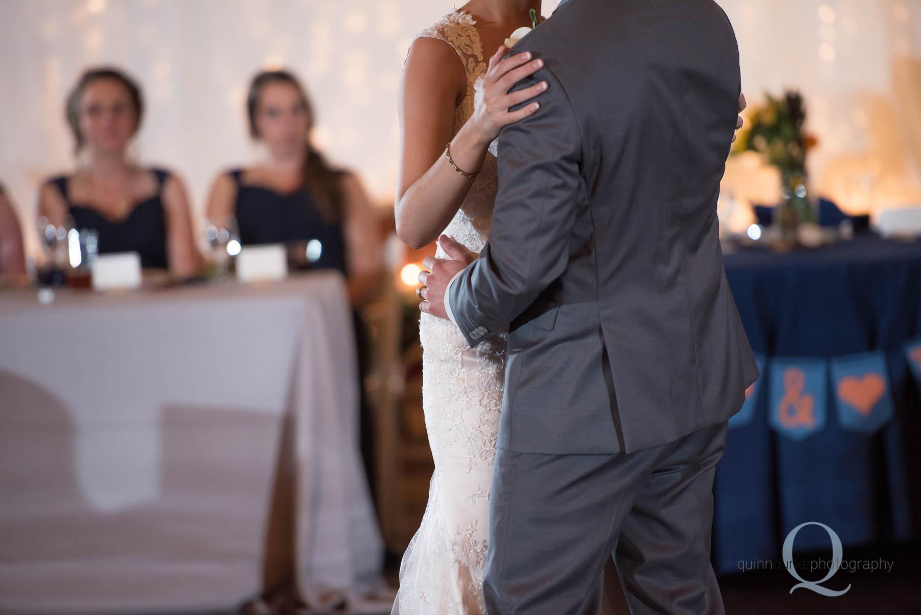 Green Villa Barn wedding first dance in barn