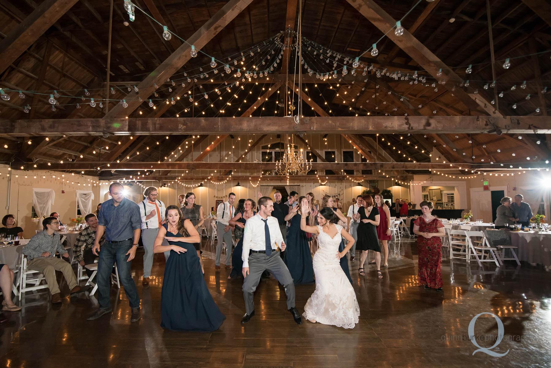 wedding reception at Green Villa Barn Salem Oregon