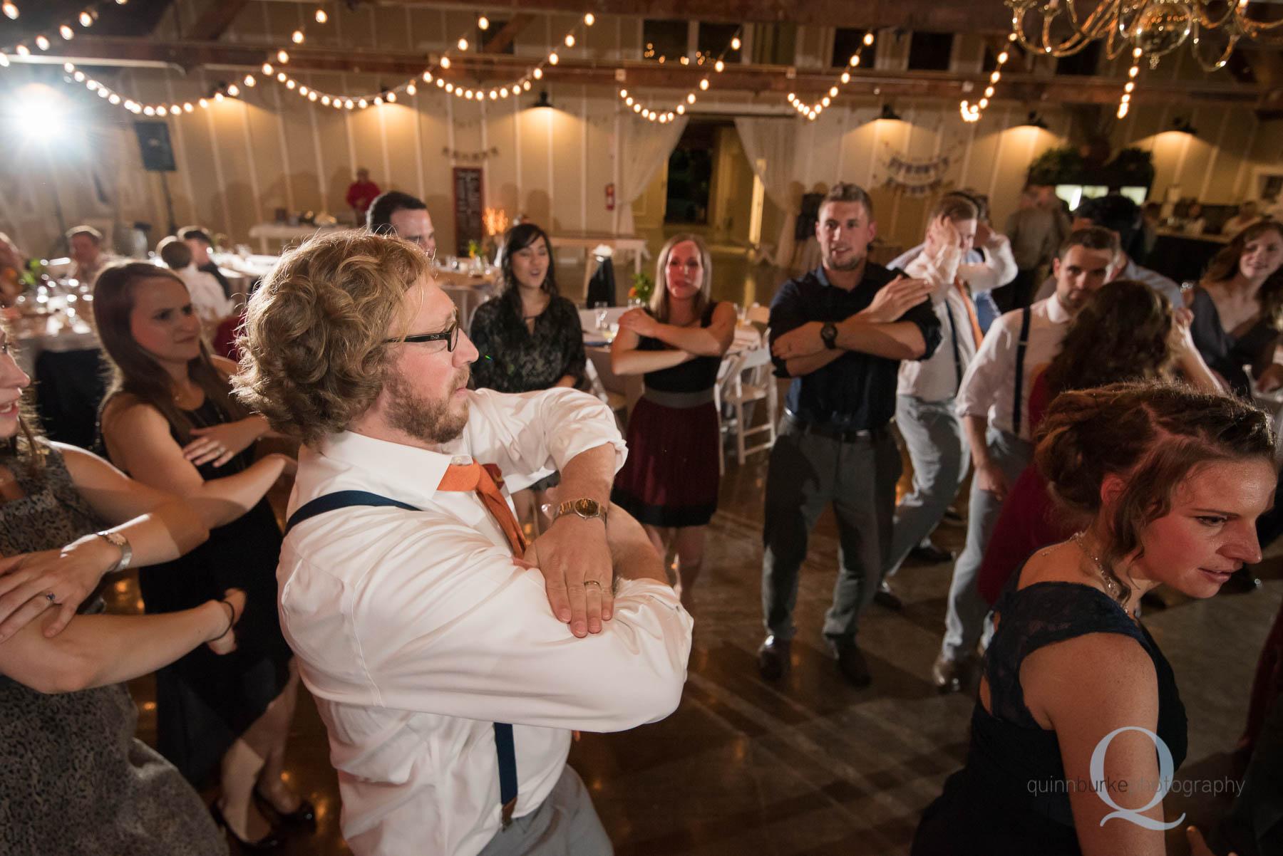 dancing during reception at Green Villa Barn Salem Oregon