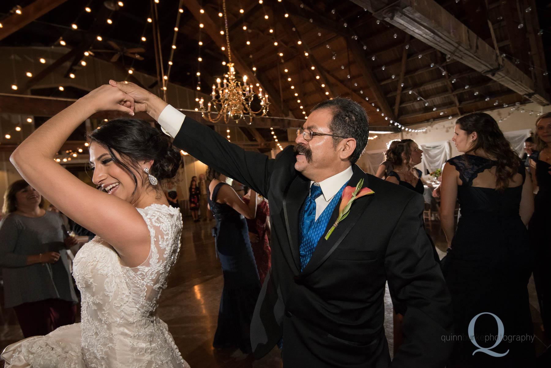 dancing during wedding reception at Green Villa Barn Salem Oregon
