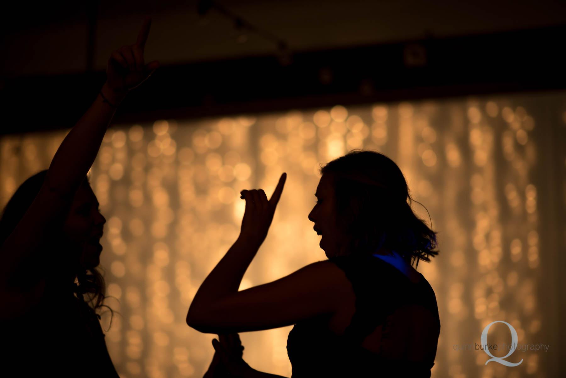 silhouette dancing at Green Villa Barn Salem Oregon