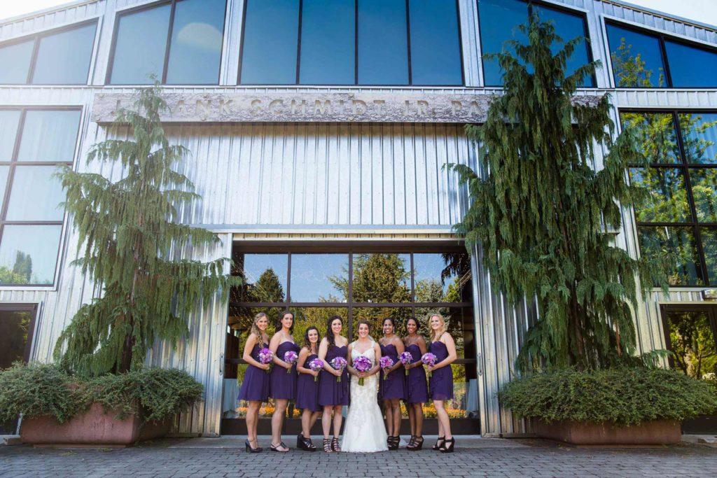 bride and bridesmaids oregon gardens wedding silverton salem oregon