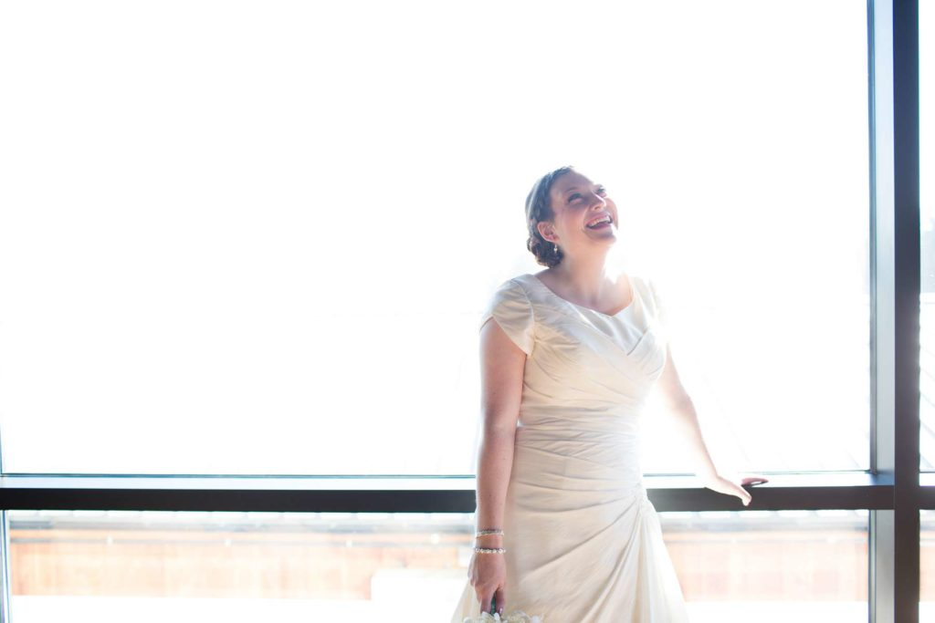 bride backlit portrait vue wedding corvallis oregon