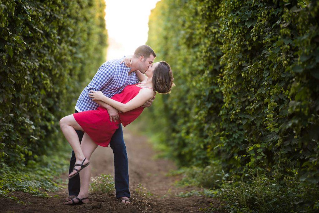 engagement dip kiss golden sun rogue hop farm salem oregon