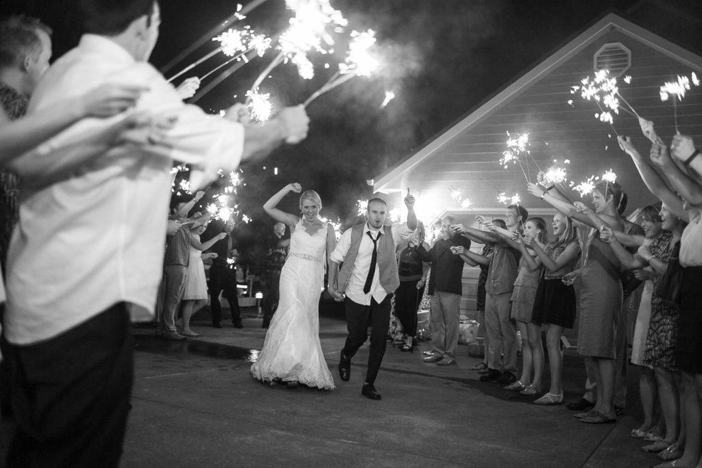 bride groom wedding reception exit sparklers salem oregon