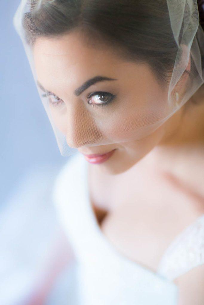 bride portrait bend oregon wedding ranch