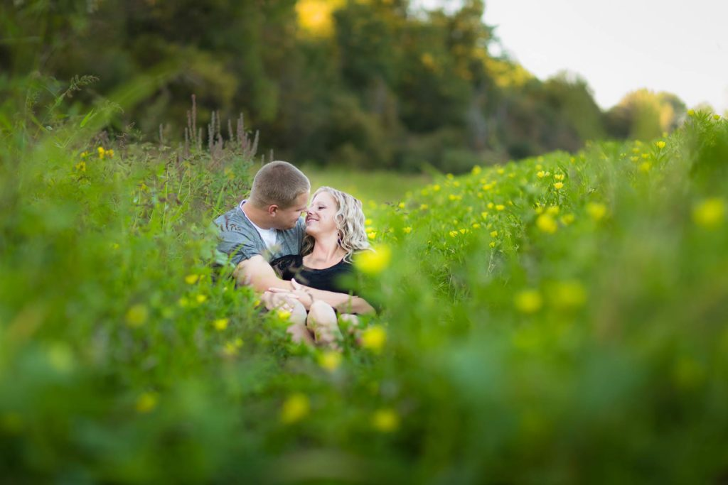 minto brown park engagement photo field with yellow flowers salem oregon